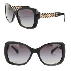 Chanel Sunglasses with gold chain
